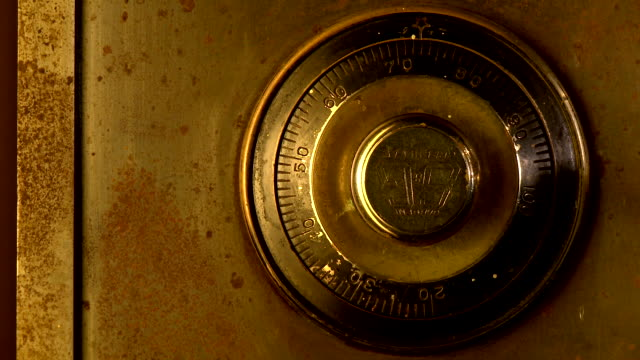 old bank safe - three angles - combination lock stock videos & royalty-free footage