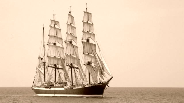 old barque under full sail - the past stock videos & royalty-free footage