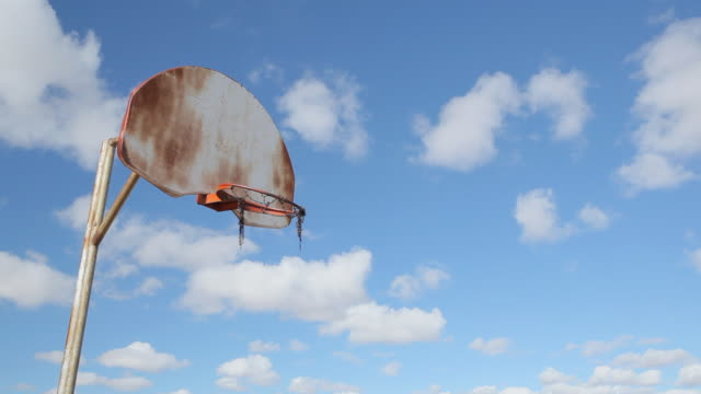 old basketball court - sports court stock videos & royalty-free footage