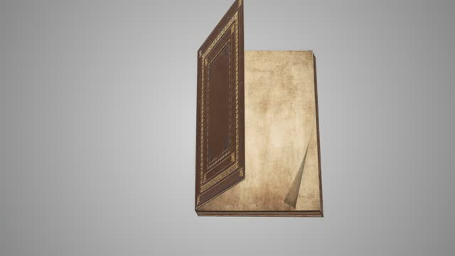 old book opening animation. retro style blank pages are turning,  the concept of fairy tale , guide, green screen part, zoom effect, education, ancient, close-up, template, loopable - book cover stock videos & royalty-free footage