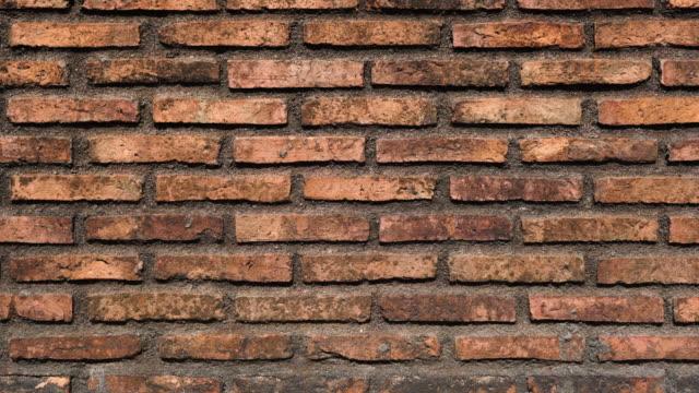 old brick wall background sliding shot - brick wall stock videos & royalty-free footage