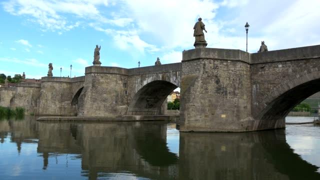 Old Bridge across River Main, Wuerzburg, Lower Franconia, Bavaria, Germany