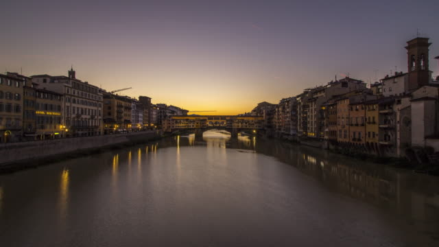 vecchio ponte bridge in florence - ponte stock videos & royalty-free footage
