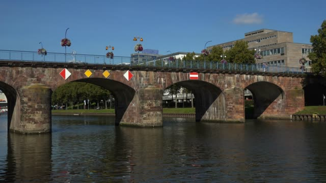 Old bridge, Saar River, district of St. Johann, Saarbrucken, Saarland, Germany, Europe