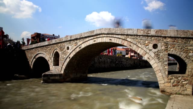 old bridge(wide shot) - eastern european culture stock videos & royalty-free footage
