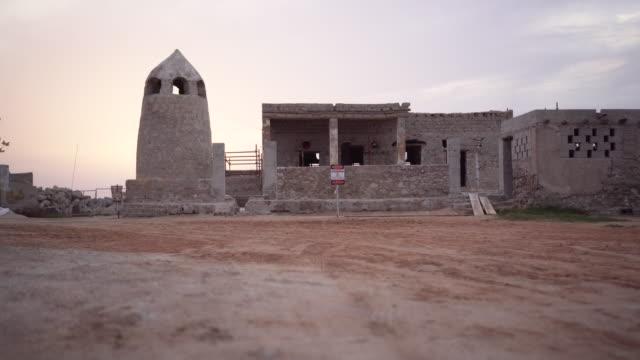 Old building in Ras al-Khaimah village, trucking shot