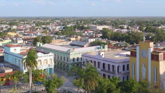 old buildings in the downtown district, ciego de avila, cuba - local landmark stock videos & royalty-free footage