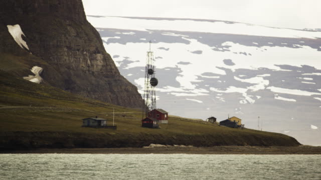 old buildings on the coast of svalbard - coal mine stock videos & royalty-free footage