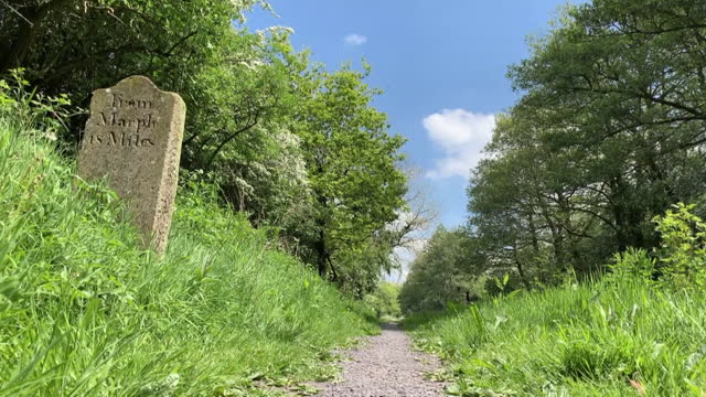 old canal mile marker in cheshire, england - western script stock videos & royalty-free footage