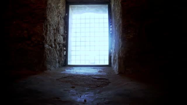 old castle - window - glowing doorway stock videos & royalty-free footage
