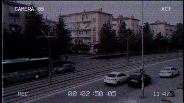 old cctv | security camera - sorveglianza video stock e b–roll