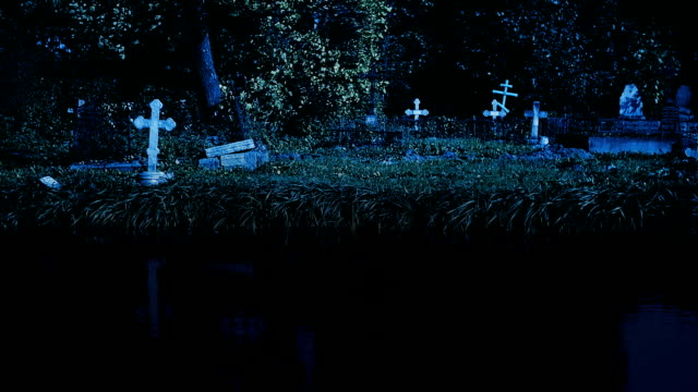 old cemetery at night - cemetery stock videos & royalty-free footage