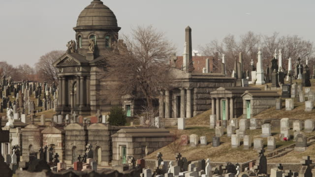 ws tu old cemetery / queens,new york city,new york,usa - cemetery stock videos & royalty-free footage