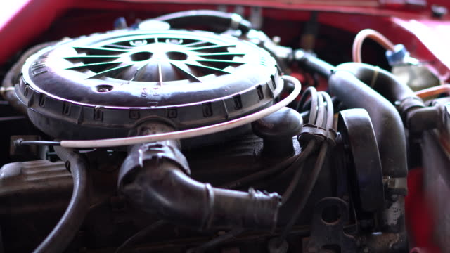 old chevrolet engine - classic car stock videos and b-roll footage