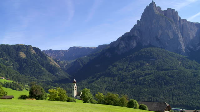 Old Church in Front of Mt. Schlern (South Tyrol) PAN