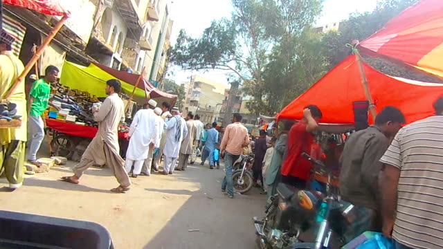 old city area ride - sindh pakistan stock videos and b-roll footage