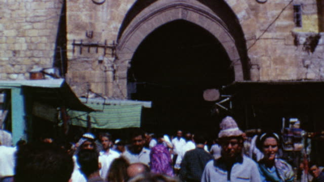 old city gates on august 10 1967 in jerusalem israel - biblical event stock videos & royalty-free footage