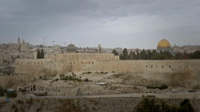 vidéos et rushes de vieille ville de jérusalem - temple