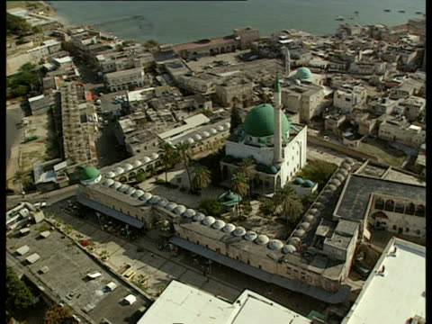 aerial ws old city of acre in western galilee, israel - akko stock videos and b-roll footage