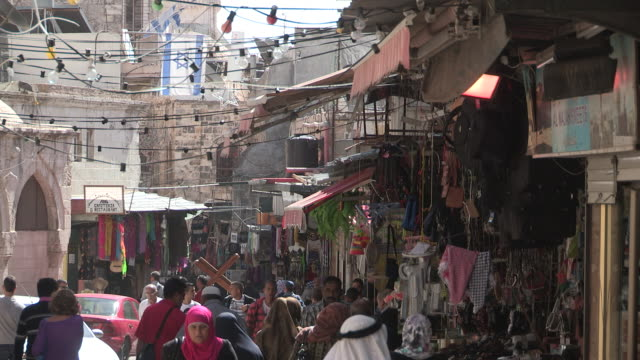 old city street, jerusalem, israel - old town stock videos & royalty-free footage