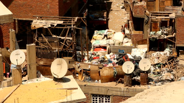 ws old city trash collection/ cairo / egypt - egypt stock videos & royalty-free footage