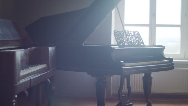 old classic piano close up - piano stock videos & royalty-free footage