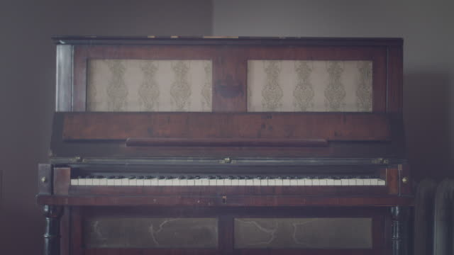 Old classic piano close up