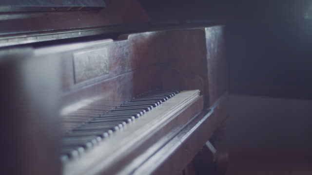 Old classic Piano keyboard close up