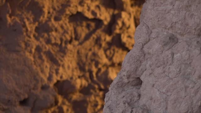 old clay walls up close in uzbekistan - セレクティブフォーカス点の映像素材/bロール