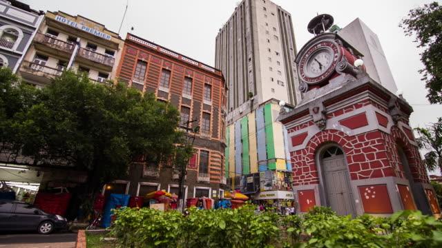 vídeos de stock e filmes b-roll de old clock manaus - amazonas state brazil