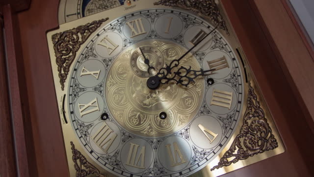 old clock time lapse - changing clock stock videos and b-roll footage