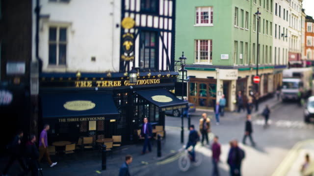 old compton street, london - time lapse - pub stock videos & royalty-free footage