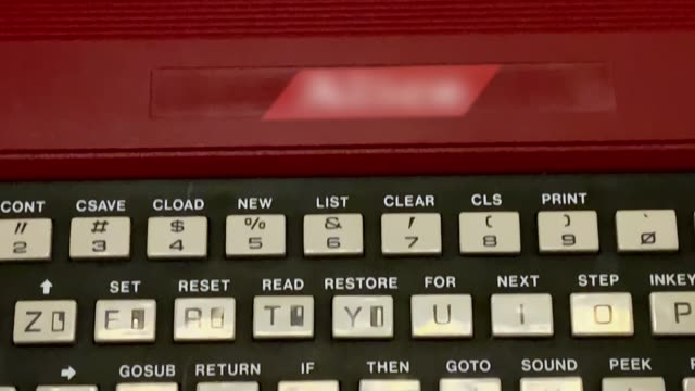 old computer keyboard from 1980-1989 - 1980 1989 stock videos & royalty-free footage