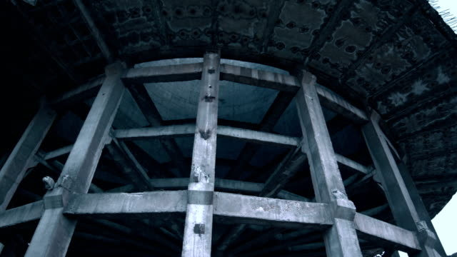 old concrete abandoned tower - concrete stock videos & royalty-free footage