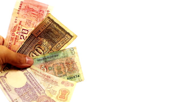 old currency of india - debt stock videos & royalty-free footage
