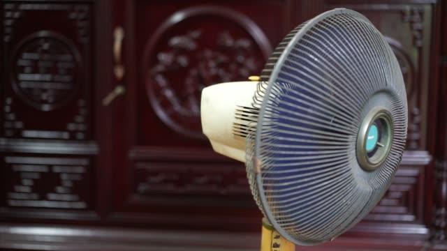 old dusty fan on vietnam - electric fan stock videos & royalty-free footage
