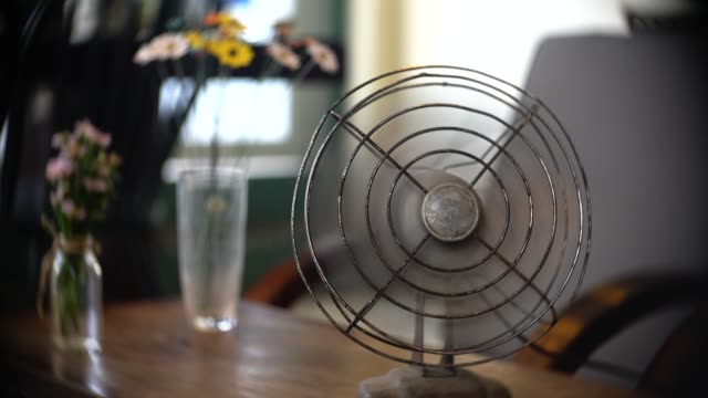 old electric fan - ventilator stock-videos und b-roll-filmmaterial