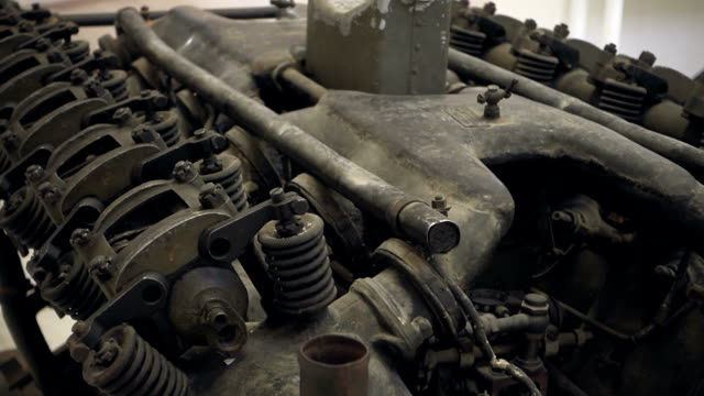 Old engine close-up