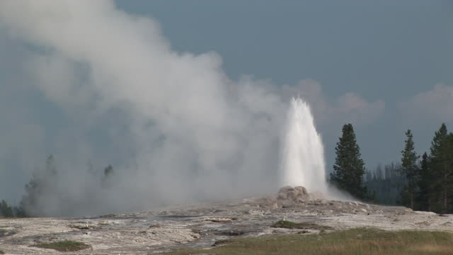 ms, old faithful geyser erupting, upper geyser basin, yellowstone national park, wyoming, usa - old faithful stock videos & royalty-free footage
