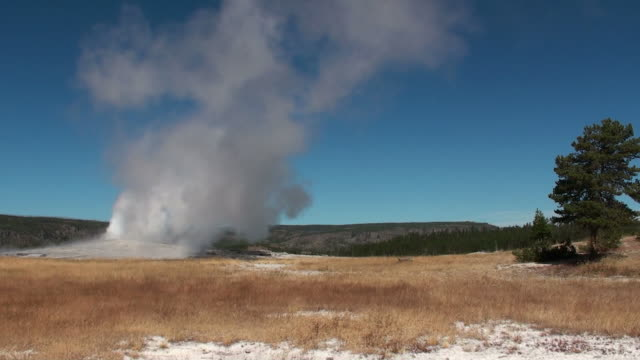 old faithful geyser - old faithful stock videos and b-roll footage