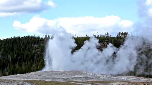 old faithful geyser - old faithful stock videos & royalty-free footage