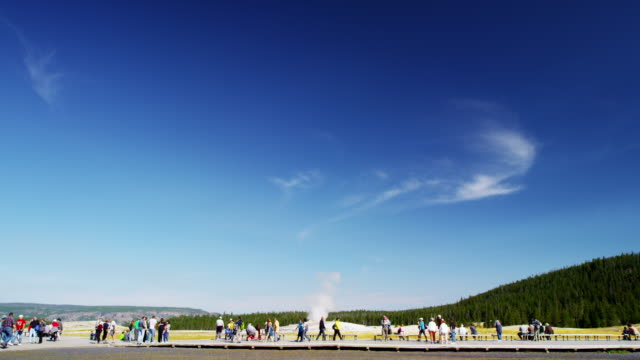 old faithful geyser yellowstone national park wyoming usa - mineral stock videos & royalty-free footage