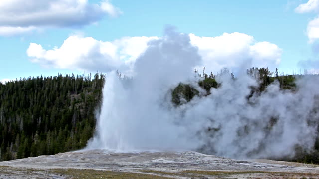 old faithful geyser-hd - old faithful stock videos & royalty-free footage