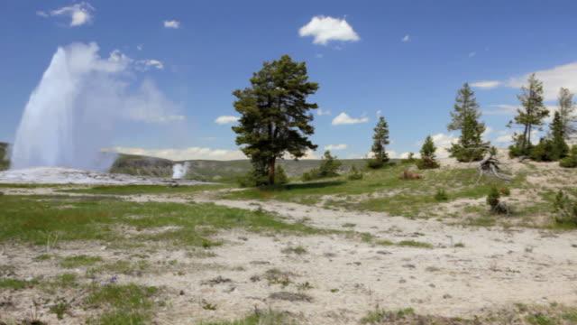 stockvideo's en b-roll-footage met cs, old faithful, yellowstone national park, montana - old faithful geiser