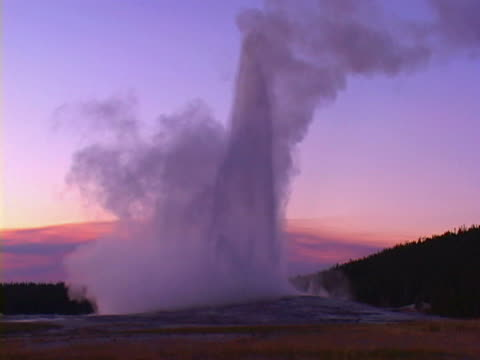 old faithful, yellowstone national park - old faithful stock videos & royalty-free footage