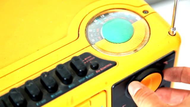 old fashion radio tuning - radio stock videos & royalty-free footage