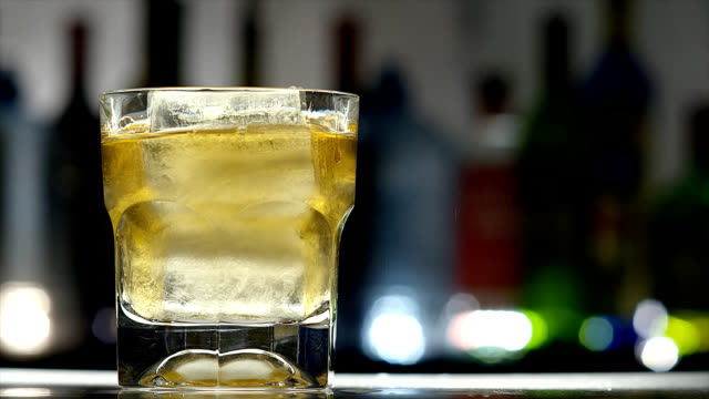 old fashion-cocktail - ice stock videos & royalty-free footage