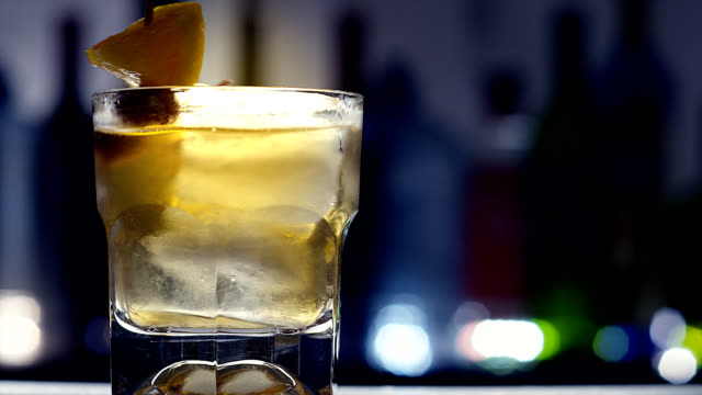 old fashion-cocktail - scotch whiskey stock videos & royalty-free footage
