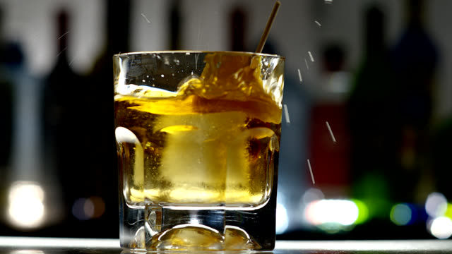 old fashion-cocktail - scotch whiskey stock videos and b-roll footage