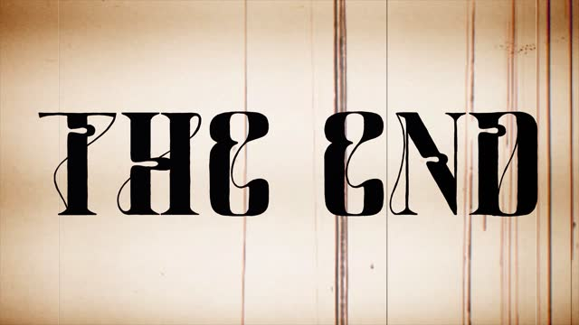 the end old fashioned (hand writing) old film - 1960 stock videos & royalty-free footage